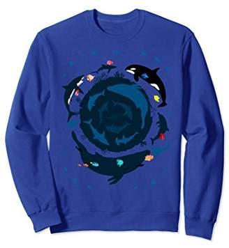 Ocean 360 Dolphin killer whale loop circle Sweatshirt