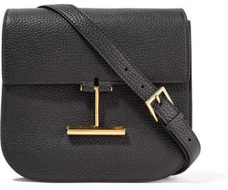Tom Ford Tara Small Textured-leather Shoulder Bag - Black