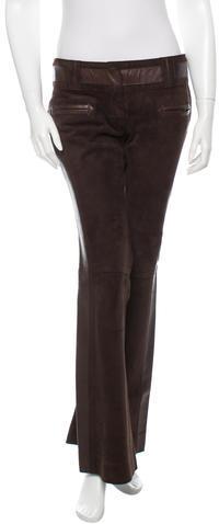 Dolce & GabbanaDolce & Gabbana Wide-Leg Leather Pants