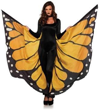 Leg Avenue Festival Monarch Butterfly Wing Halter Cape - Orange/Black - One