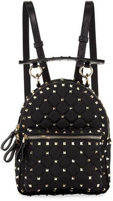 Valentino Rockstud Spike Mini Nylon Backpack
