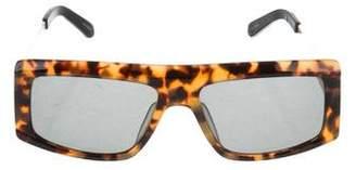 Karen Walker Tortoiseshell Flat Top Sunglasses