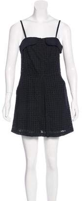 Jenni Kayne Eyelet-Accented Mini Dress