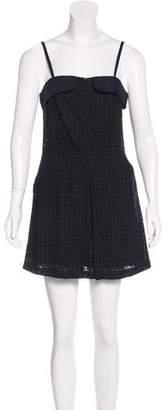 Jenni Kayne Eyelet-Accented Mini Dress