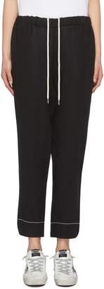 Bassike Split cuff drawstring washed linen pants
