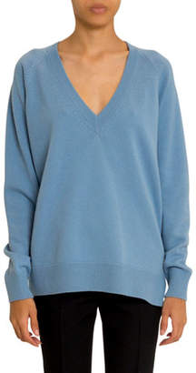 Givenchy Cashmere-Wool V-Neck Side Zip Sweater