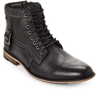 Steve Madden Dark Grey Jonsten Combat Boots