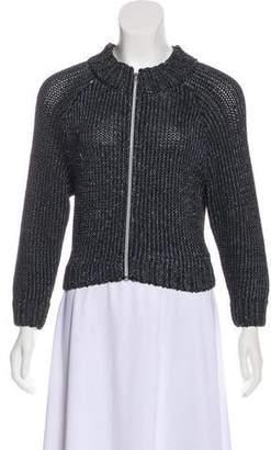L'Agence Long Sleeve Zip-Up Jacket