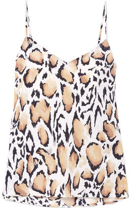 Equipment Layla Leopard-print Silk Crepe De Chine Camisole - Leopard print