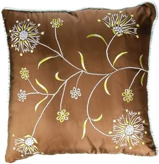 Bacati Botanika Brown Cushion 16 * 16-Inch with Filler