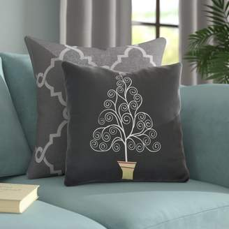 The Holiday Aisle Filigree Tree Outdoor Throw Pillow