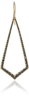 Black Diamond Lizzie Mandler Fine Jewelry 18k gold and drop earrings