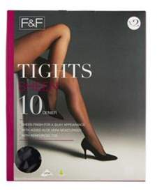 F&F 2 Pack Of Sheen 10 Denier Tights With Lycra