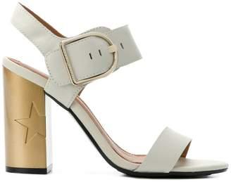 Tommy Hilfiger star embossed heel sandals