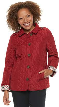 Croft & Barrow Petite Quilted Button-Front Jacket
