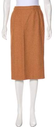 Luciano Barbera Wool Pencil Skirt