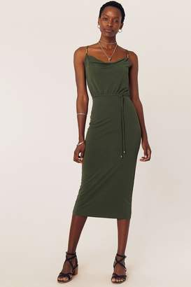 Oasis Womens Green Cowl Neck Cami Dress - Green