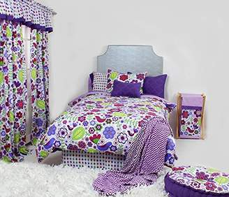 Bacati Botanical Purple Twin Comforter Set