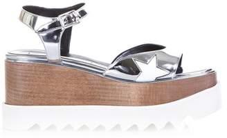 Stella McCartney Elyse Faux Metallic Leather Sandals