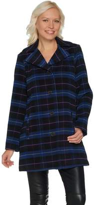 Joan Rivers Classics Collection Joan Rivers Perfectly Plaid Swing Coat with Lining