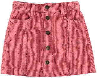 Molo Girl's Bera Button Front Corduroy Skirt, Size 3T-16