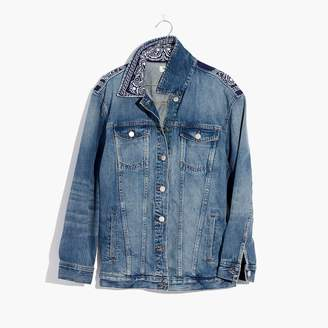 Madewell x B Sides Oversized Jean Jacket: Bandana Edition