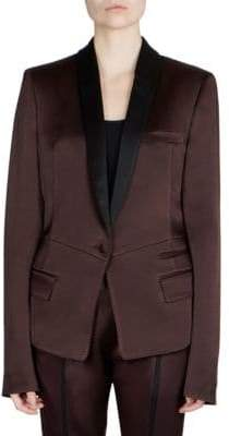 Haider Ackermann Pleat Back Contrast Blazer