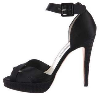 Brian Atwood Satin Platform Sandals
