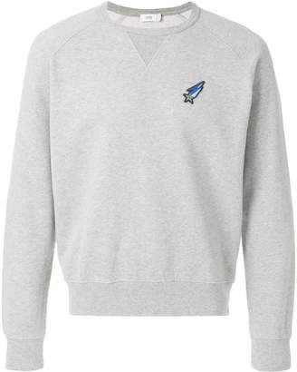 Closed shooting star patch sweatshirt