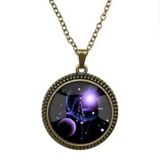 By Zoé Precious Stone Libra Constellation Design Silver Necklace for Valentine's Day STORE