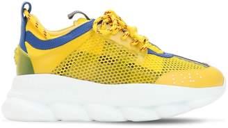 Versace Chain Reaction Mesh & Plaid Sneakers