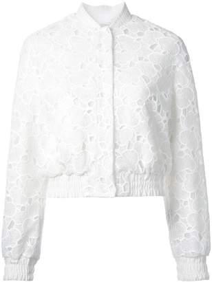 Huishan Zhang macrame lace bomber jacket