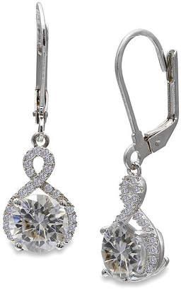 SILVER TREASURES Silver Enchantment Cubic Zirconia Sterling Silver Infinity Drop Earrings
