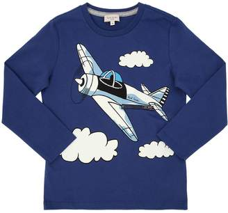 Paul Smith Plane Print Cotton Jersey T-Shirt