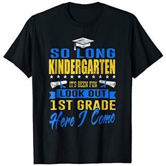 Kindergarten Look Out 1st Grade Graduation 2018 Funny Tshirt