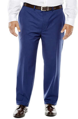 COLLECTION Collection by Michael Strahan Blue Herringbone Suit Pants - Big & Tall