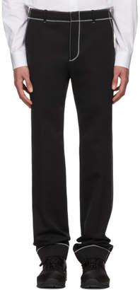 Givenchy Black Zig Zag Stitch Trousers