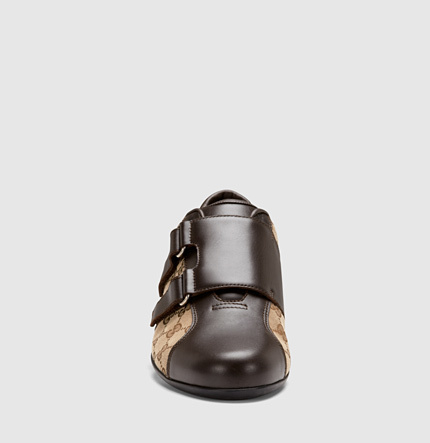 Gucci Brown Leather Velcro Shoe