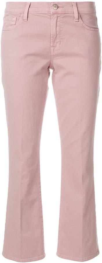 Selena crop flare jeans
