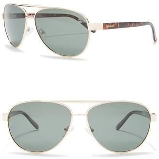 Timberland Polarized 59mm Aviator Sunglasses