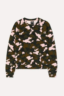 The Upside Camouflage-print Stretch-jersey Sweatshirt - Army green
