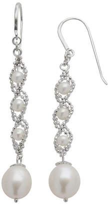 JCPenney FINE JEWELRY Sterling Silver Fresh Water Pearl Lace Earrings