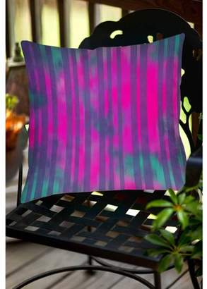 Thumbprintz Stripes Pink Turquoise Indoor/Outdoor Pillow