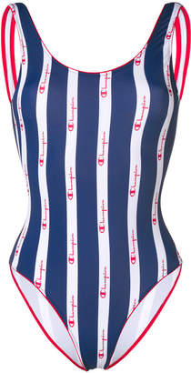 Champion logo stripe swimsuit
