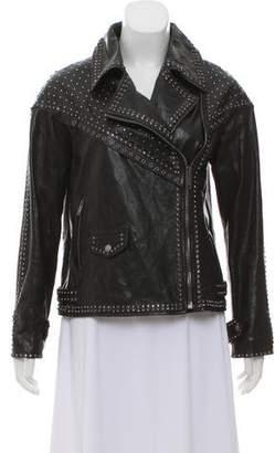 Valentino 2016 Embellished Leather Jacket