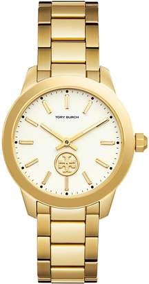 Collins Watch, Gold-Tone Stainless Steel/Ivory, 38 Mm