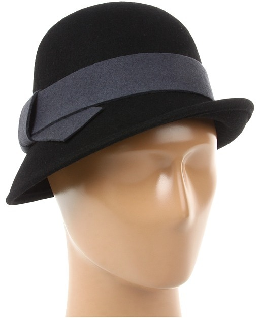 Jessica Simpson Knot Band Cloche (Black) - Hats