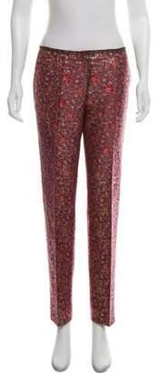 Prada Metallic Patterned Pants