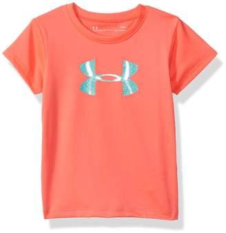 Under Armour Little Girl's Glitter Big Logo Short Sleeve T-shirt Shirt