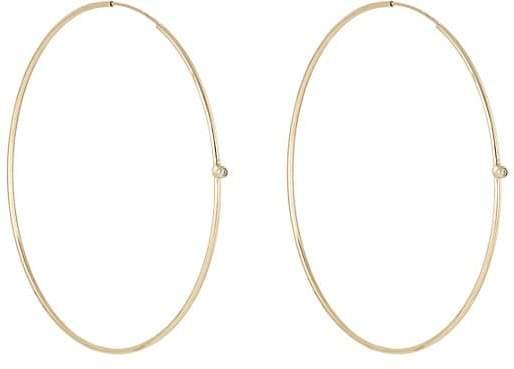 Jennifer Meyer Women's White Diamond Hoop Earrings